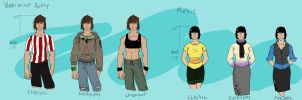 Patty and Marcie outfit sheet by RogueRider