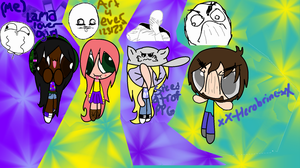 Rage face friends by LamaLoverGirl
