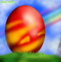 ::Red Lonely Egg...:: by norngirl