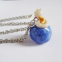 Blue Bomb necklace - Legend of Zelda by FrozenNote
