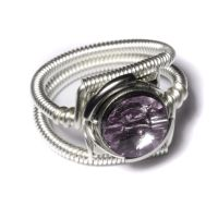 Cyberpunk Light Amethyst Ring by CatherinetteRings