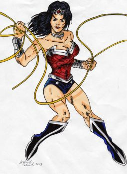 Justice League-wonder Woman by GabRed-Hat