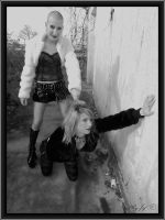 slave bald girl soft submission by jef-photos