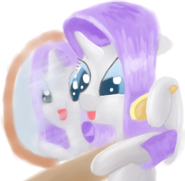 Rarity With Brush by RunbowDash