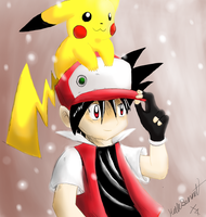 Just RED AND PIKACHU by AnimatorMX
