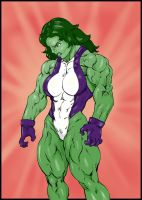 She-hulk commission 36 color by Xenomrph