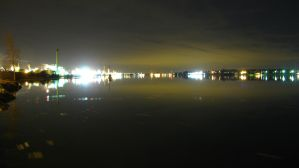 Sarnia St.Clair river night by dmjh30