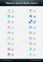 Free Minimal Social Media Icon PSD by Downgraf