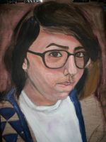 Self Portrait '09 WIP by WithSongsOfDefeat