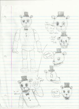 School Sketches 12-Withered Freddy by AdmiralNighton