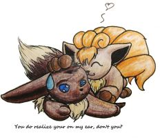 Eevee and Vulpix by Femerithian