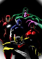 Marvel Symbiotes by ShadetheMystic