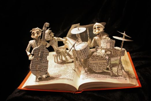 Jazz Band Book Sculpture by wetcanvas