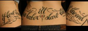lettering by nakedarttattoo