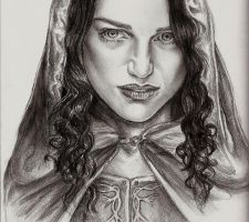 The Lady Morgana:Katie McGrath by willhalm18