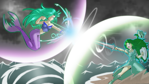 Epic Duel: Namiya Vs Lillyian by Severflame
