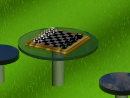 Chessboard Scene by Dragonlord15910