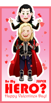 Thor and Loki Valentine by book-sage