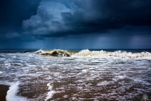 Adrift Upon Life's Stormy Sea by JustinDeRosa