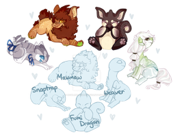 MultiSpecies YCH!(Fumi, Weaver, Mawmaw + Snaptrap) by Howling-night
