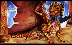 Enter: The Dragon Pharaoh by Ink-Leviathan