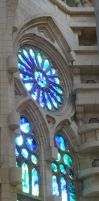 Stained glass of the Sagrada Familia by Malyca