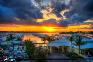 Sunset-Marina-in-Stuart-FloridaOver-the-St.-Lucie- by CaptainKimo