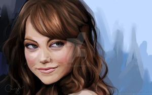 Emma Stone by iloovedoggies