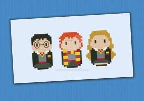 Mini People - Harry Potter cross stitch pattern by cloudsfactory