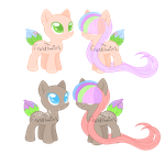 OTA: Plant Pony Twin Foals *CLOSED* by FrostTwins