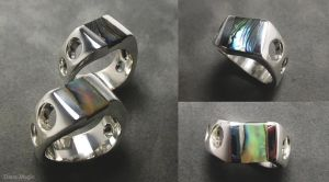 Paua shell mens rings by Dans-Magic