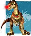 Rudolph the Red-Nosed Raptor by Natsuakai