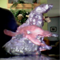 RANDOM MONSTER SCULPTURE BY ME LEFT SIDE by DEVIOUS-DISCORD-RP