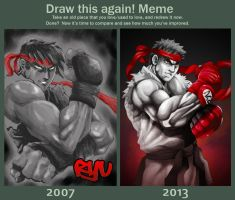 Draw this Again! - RYU by ZehB