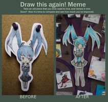Miku Paperchild- Draw This Again by figglstuph