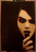 Gerard Way 'I'm Not Okay' duct tape portrait by YesterdazeGone