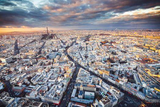 Paris from above by sican