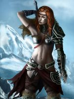 Diablo 3 - Female Barbarian by Jorsch