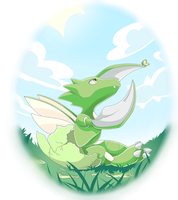 Baby Scyther by sylphlox