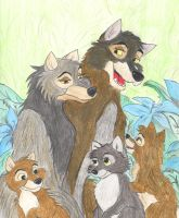 The Wolf Family by greydeer2010