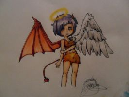 Angel Devil thingy COPICS by jojo263