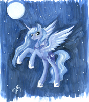 Flying Luna by Dalagar