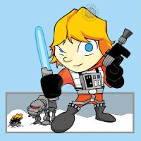 Star Wars - Luke in X-Wing Suit Chibi by Sideways8Studios