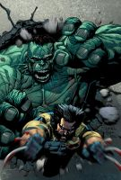 Ultimate Hulk and Wolverine 02 by JoshTempleton
