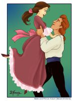 Belle and Prince Adam by lastpetal