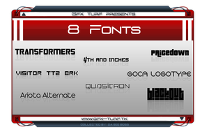 GT Presents: 8 Fonts by DaBigBoss93