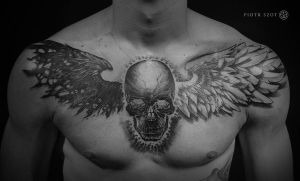 chest skull by piotrszot
