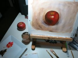 Apple in Acrylics by SulaMoon