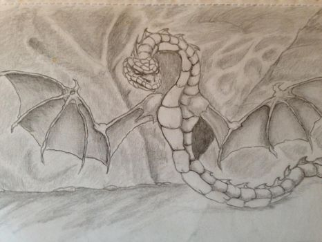 Winged Snake by Duuseri