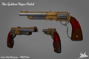 3D Weapon 01: The Golden Hope Pistol by Ulamb
